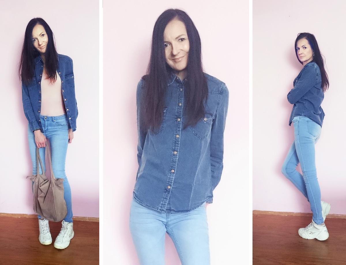 Dark Denim Shirt von MANGO| Trend Jeans Hemd