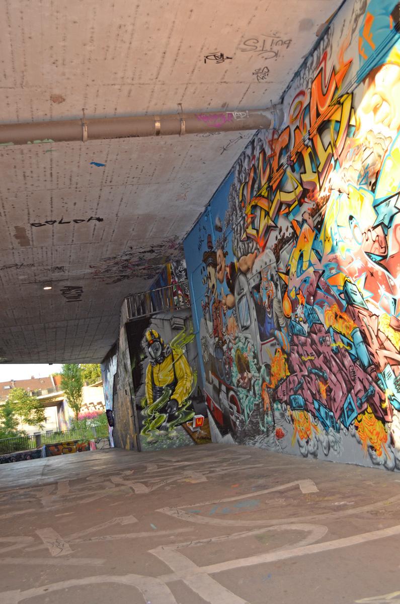 Die Graffitis am Brückenkopf in Mainz-Kastel
