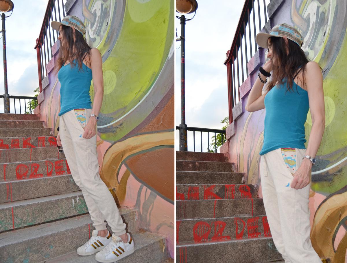 Staple Rizal Hat & Sweatpants (Cream)