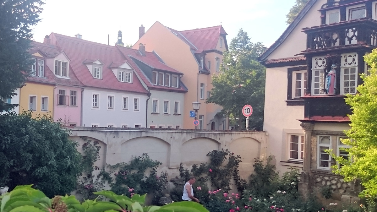 Bunte Eiscreme Architektur in Bamberg