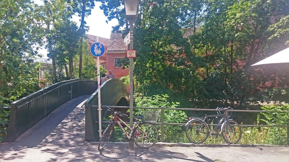Steeg über die Regnitz in Bamberg