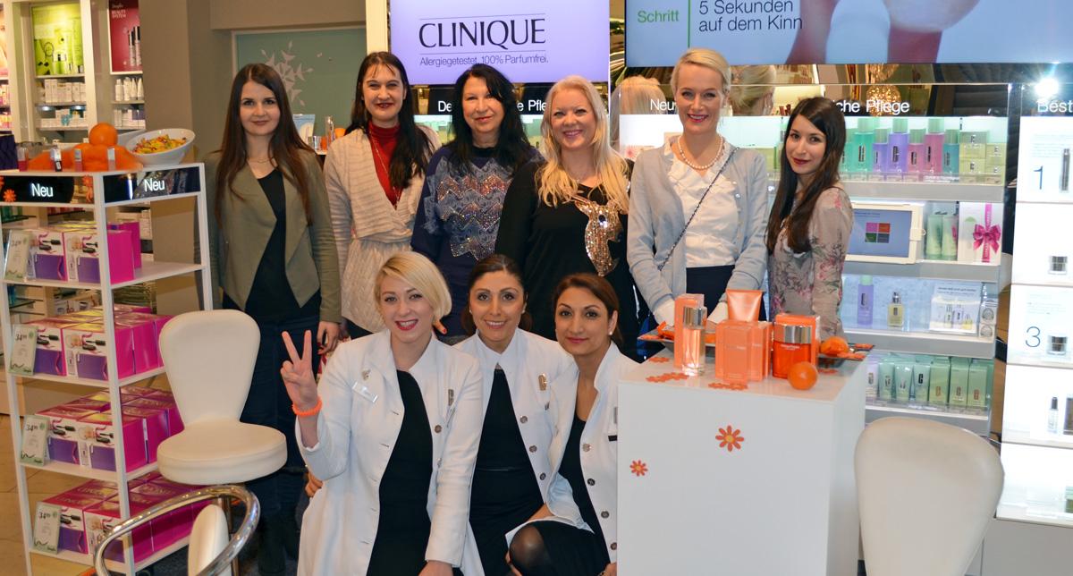Stylepeacock Clinique Event Frankfurt 11.12.2015 | Die Teilnehmerinnen und das Beraterteam