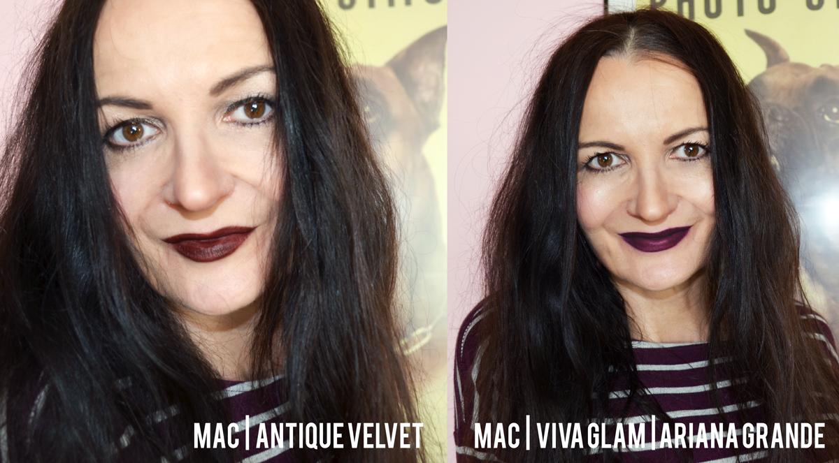 Stylepeacock trägt Mac Viva Glam Lipstick Ariana Grande & Antique Velvet