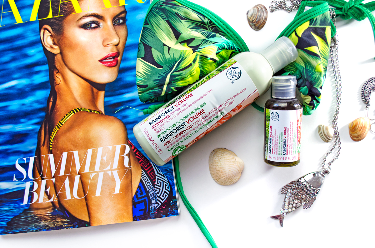 Sommerpflege mit TBD The Body Shop Rainforest Volume Conditioner & Shampoo