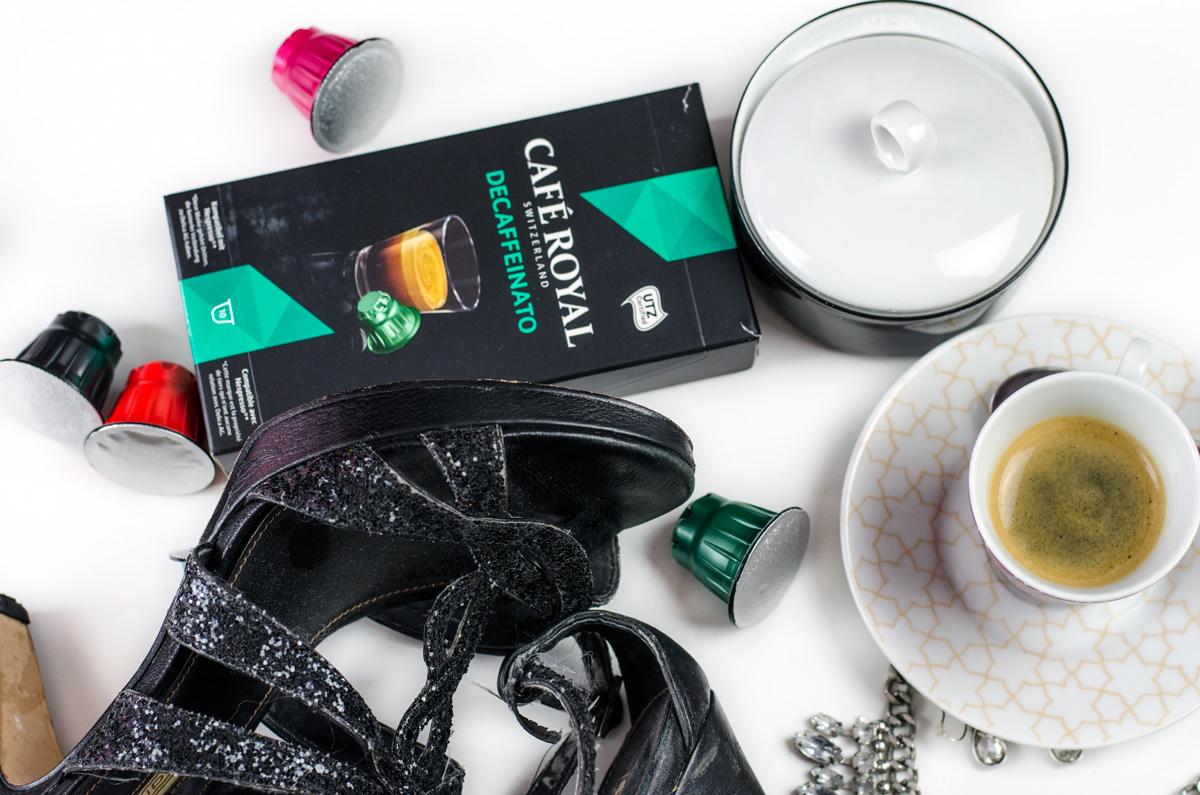 Koffeinfreier Espresso von Cafe Royal als Absacker vor dem Zubettgehen