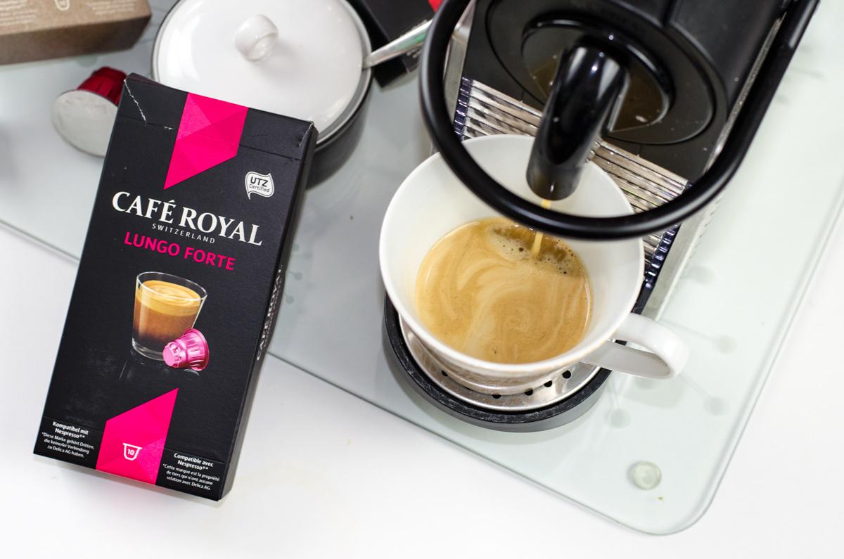 Mein LUNGO Frühstückskaffee mit Cafe Royal