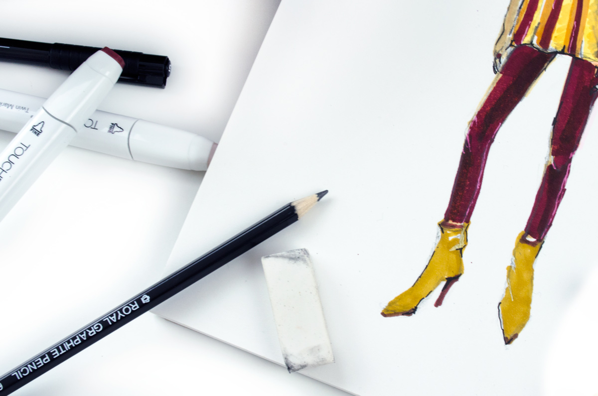 Zeichnen mit Block | Back to Zeichenstift & Fashion-Illustration