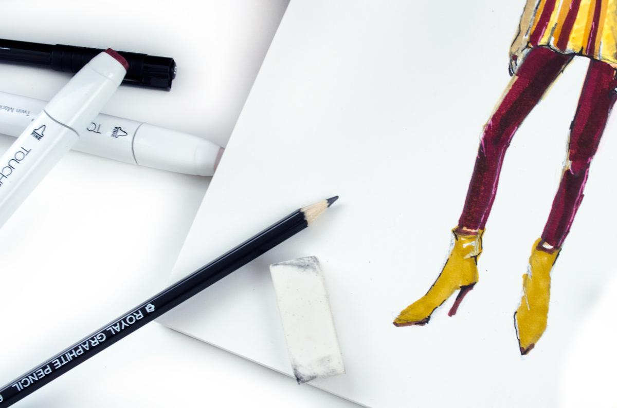 Zeichnen mit Block | Back to Zeichenstift & Fashion-Illustration
