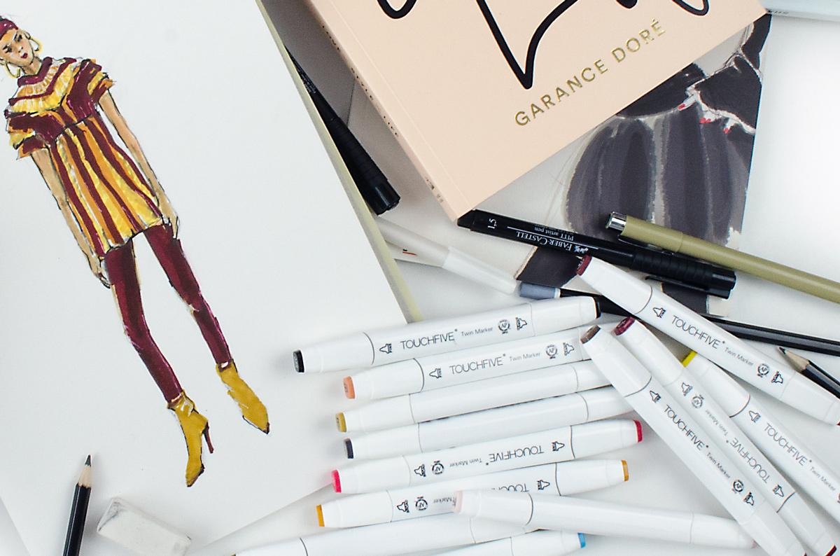 Back to Zeichenstift & Fashion-Illustrationmit Touch Five Markern