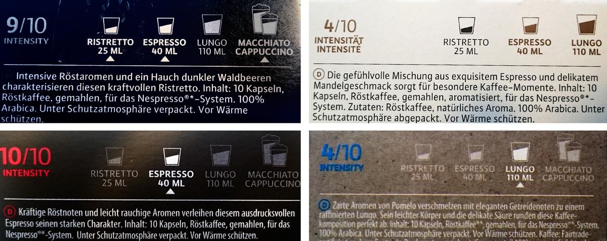 Übersicht über Stärke und Verwendungszweck der einzelnen Kaffeesorten von Café Royal