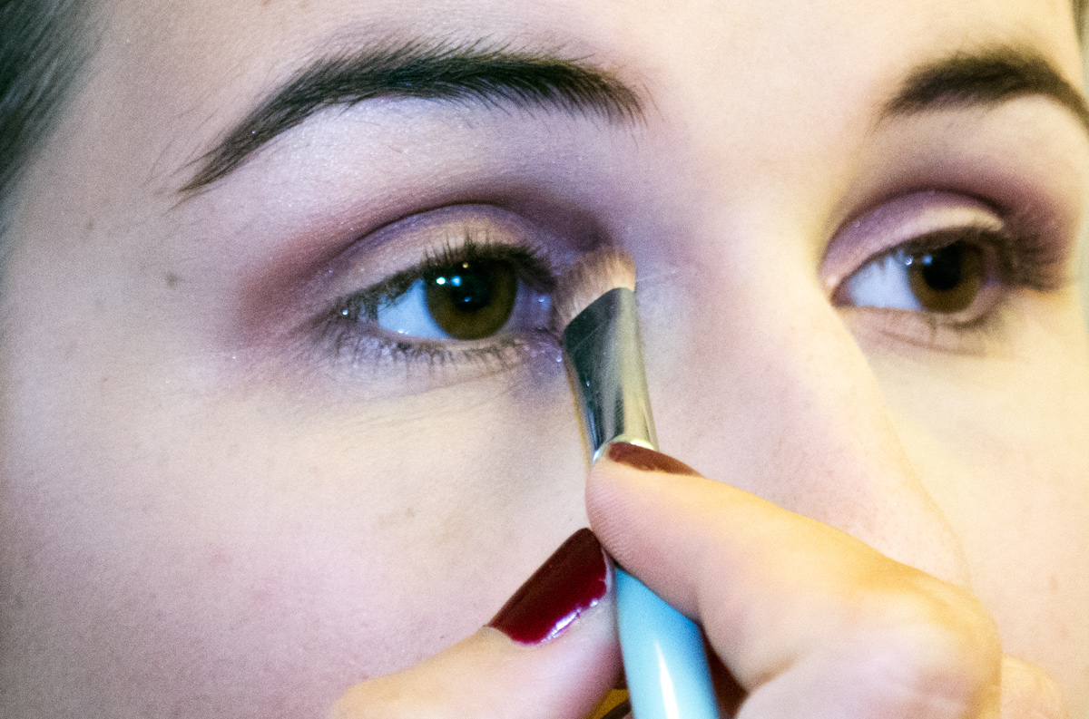 Anna's Braut-Make-up / All About Shadow Quad Pink Chocolate
