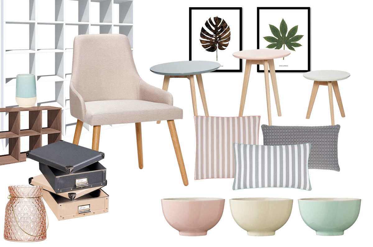 Moodboard mit Produkten von Westwing