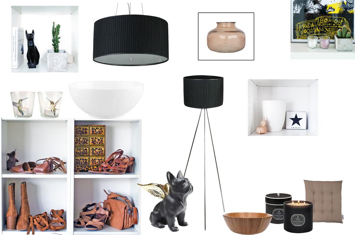 Moodboard mit heinischem interior und WESTWING Möbeln und Accessoires