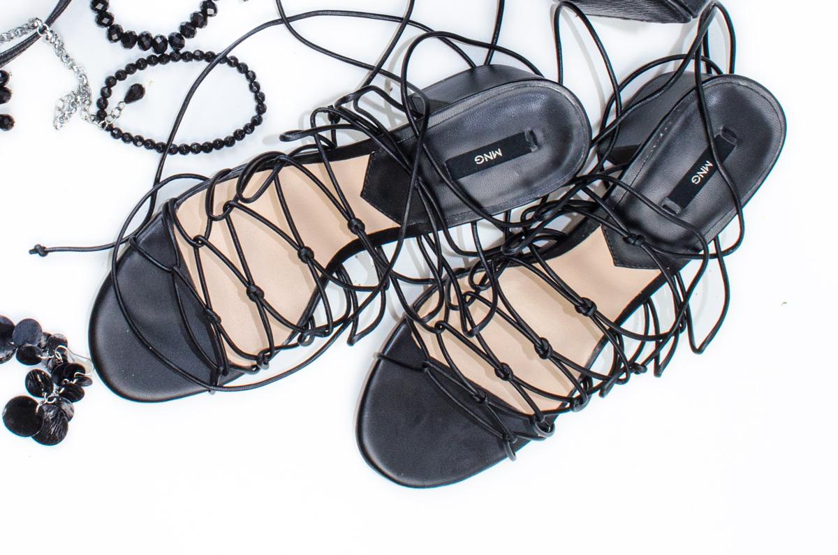 Anna s Hochzeit | Meine lace-Up Sandalen von Mango