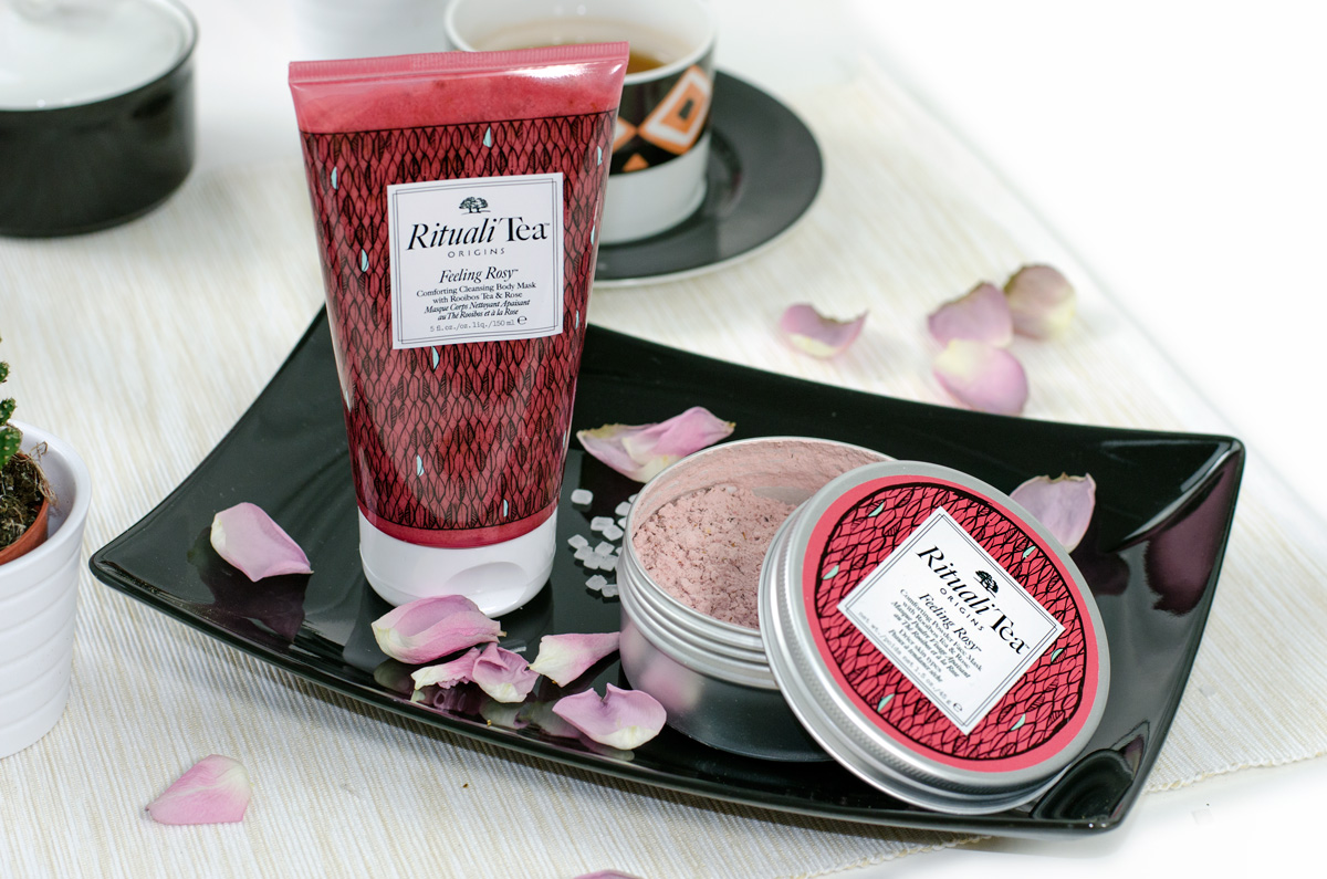 Origins RitualiTea™ Powder Face Masks und Cleansing Body Masks | FEELING ROSY ™ WITH ROOIBOS TEA & ROSE
