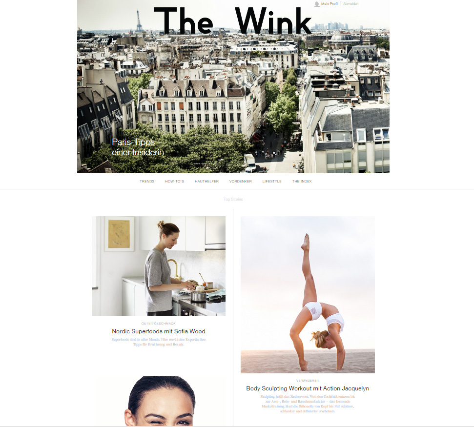 The Wink / Der Clinique Blog