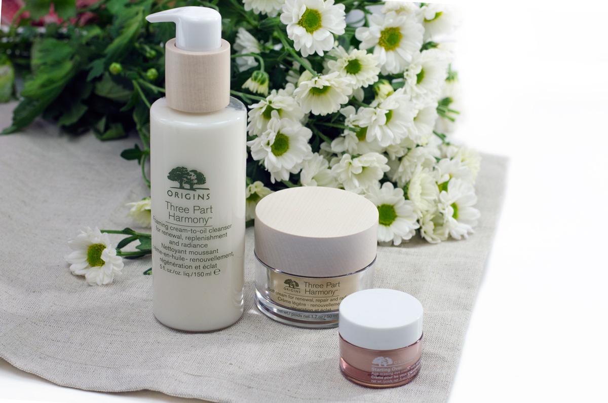 Origins Three-Part Harmony™ | Gesichtspflege Ü50 & Origins Starting Over™ Anti-Aging Augenpflege mit Mimose