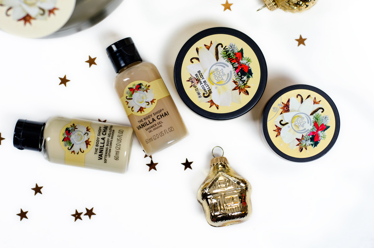 Weihnachtliche Beautysets von TBS The Body Shop   VANILLA CHAI FESTIVE TIN