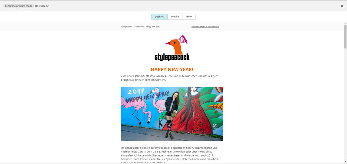 Newsletter mit MailChimp! | Screen Desktop Previe
