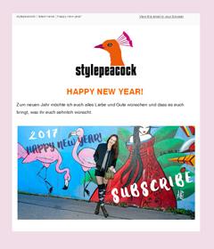 Der neue Stylepeacock-Newsletter
