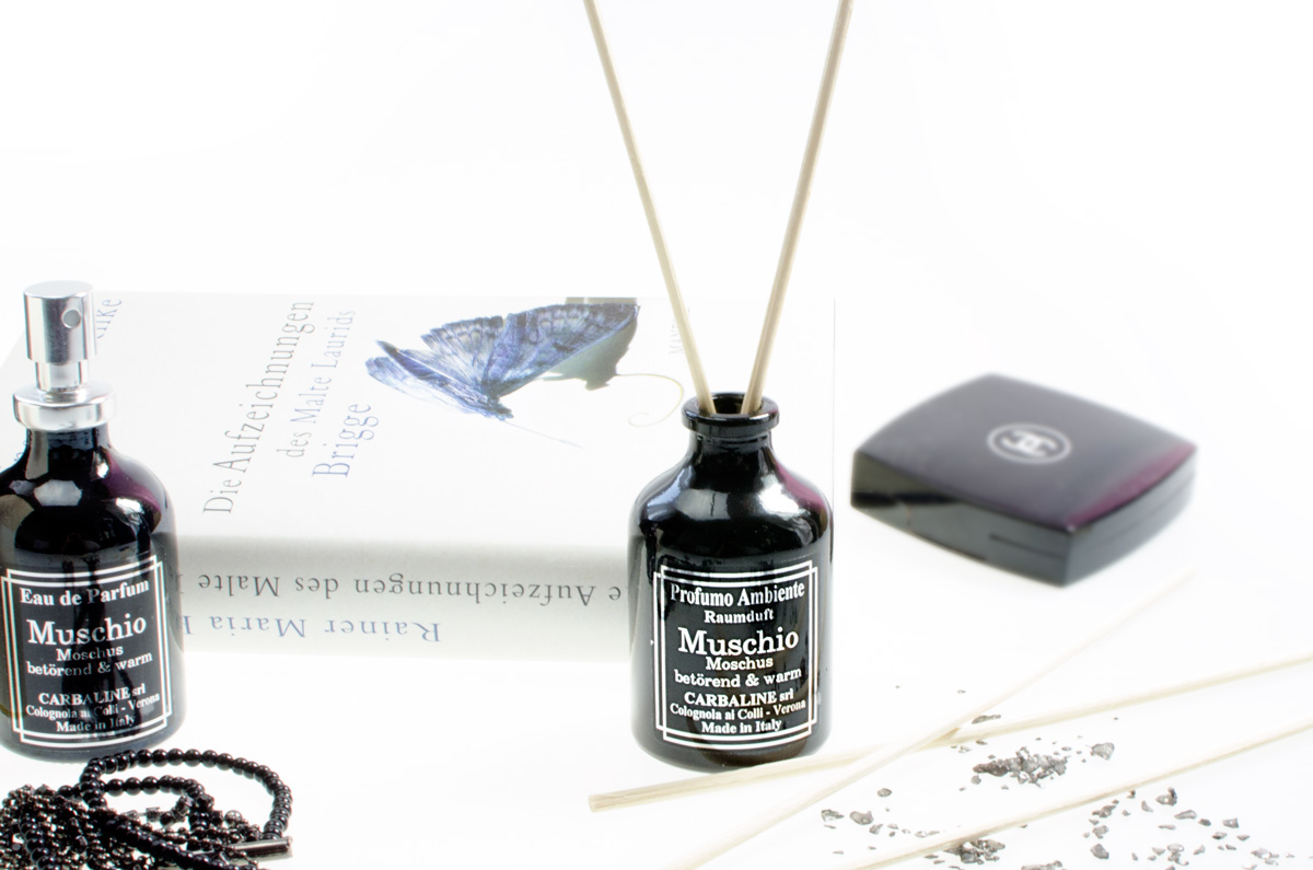CARBALINE Eau de Parfum - Moschus & Farngras CARBALINE Eau de Parfum - Muschio (Moschus & Farngras) + passender Raumduft Muschio