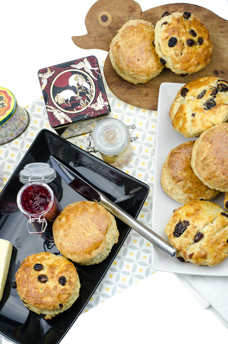 Food Flat Lay mit Irish Scones