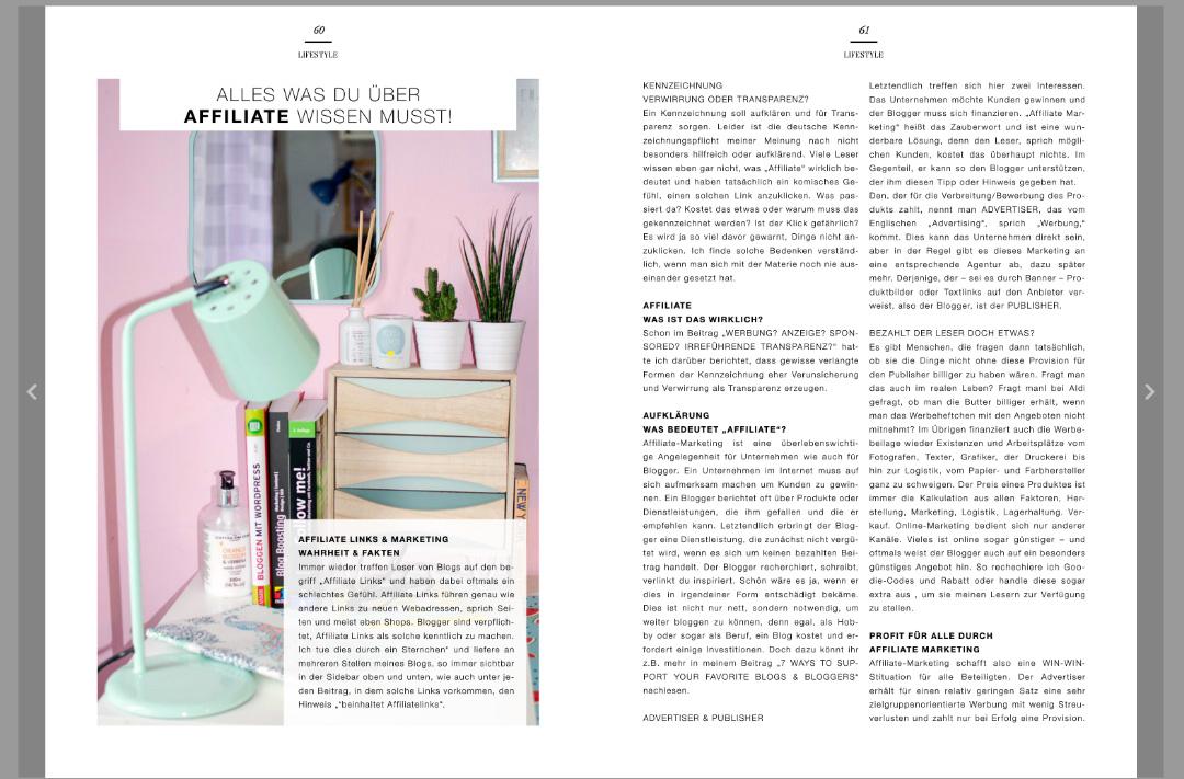 Veröffentlichung von stylepeackcs Beitrag im BLOGSALAT Magazin