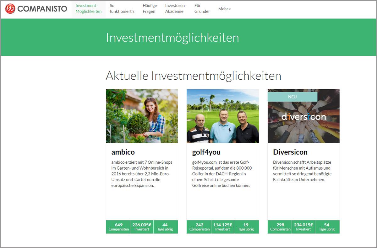 Companisto Crowdinvesting-Plattform