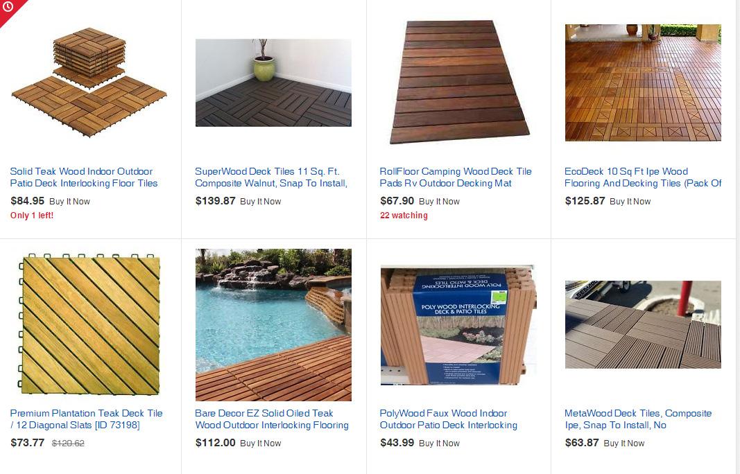 Klickfiesen Holzböden für den Balkon von ebay
