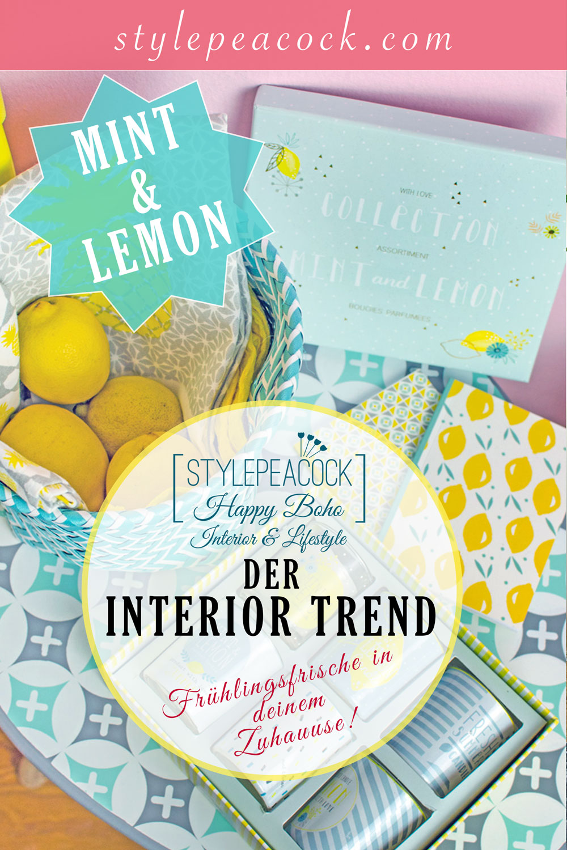 [anzeige]Spring Interior Trend Mint & Lemon