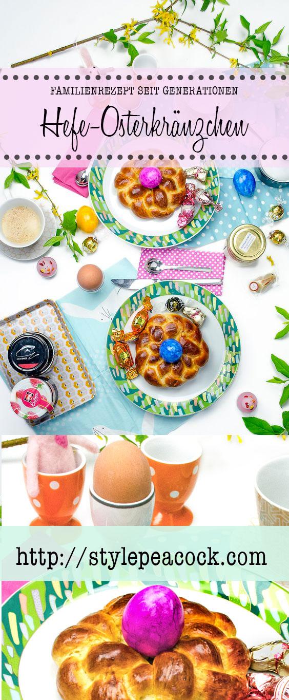 Familien-Rezept Hefe Osterkränzchen zu ostern | Leckeres Gebäck | Osterbäckereie