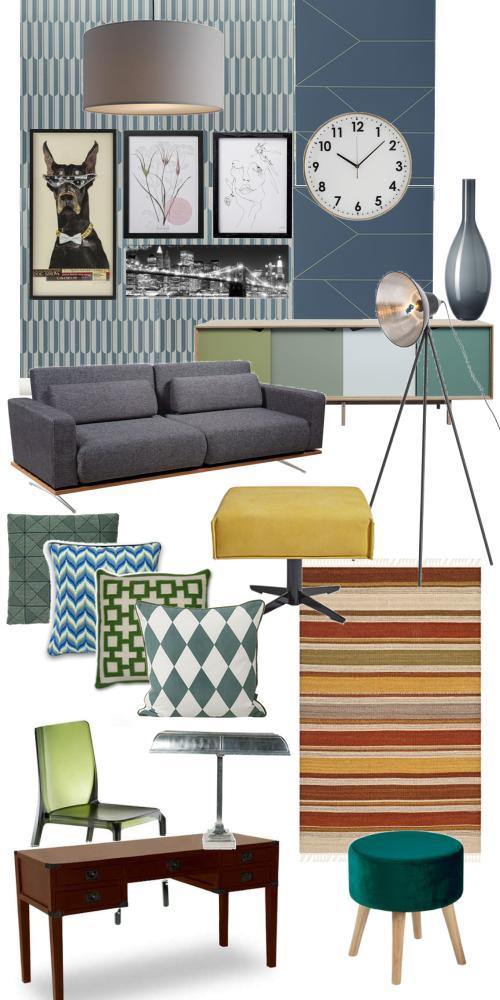 Vintage Interior Industrial Style mit dedeckten Tönen und Materialmix