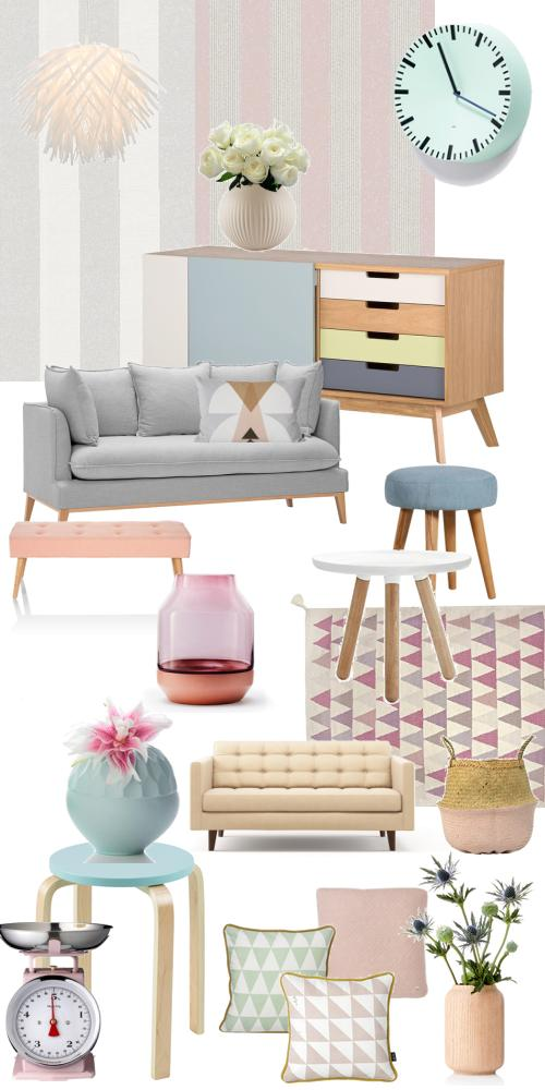Pudiger Romantic Vintage Style in Pastell-Farbem