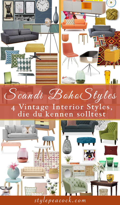 Vintage Interior Styles, die du kennen solltest: Scandi Boho Vintage Home Decor