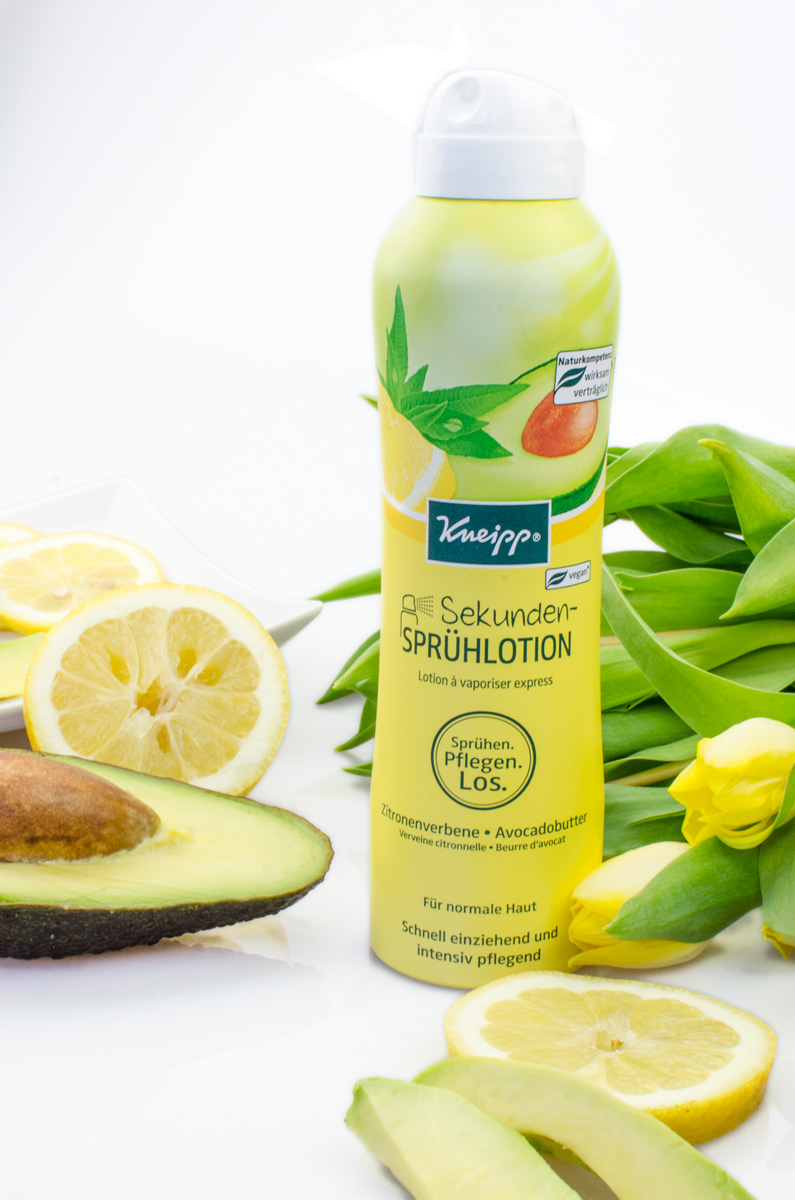 Kneipp Sekunden-Sprühlotion Zitronenverbene & Avocadobutter
