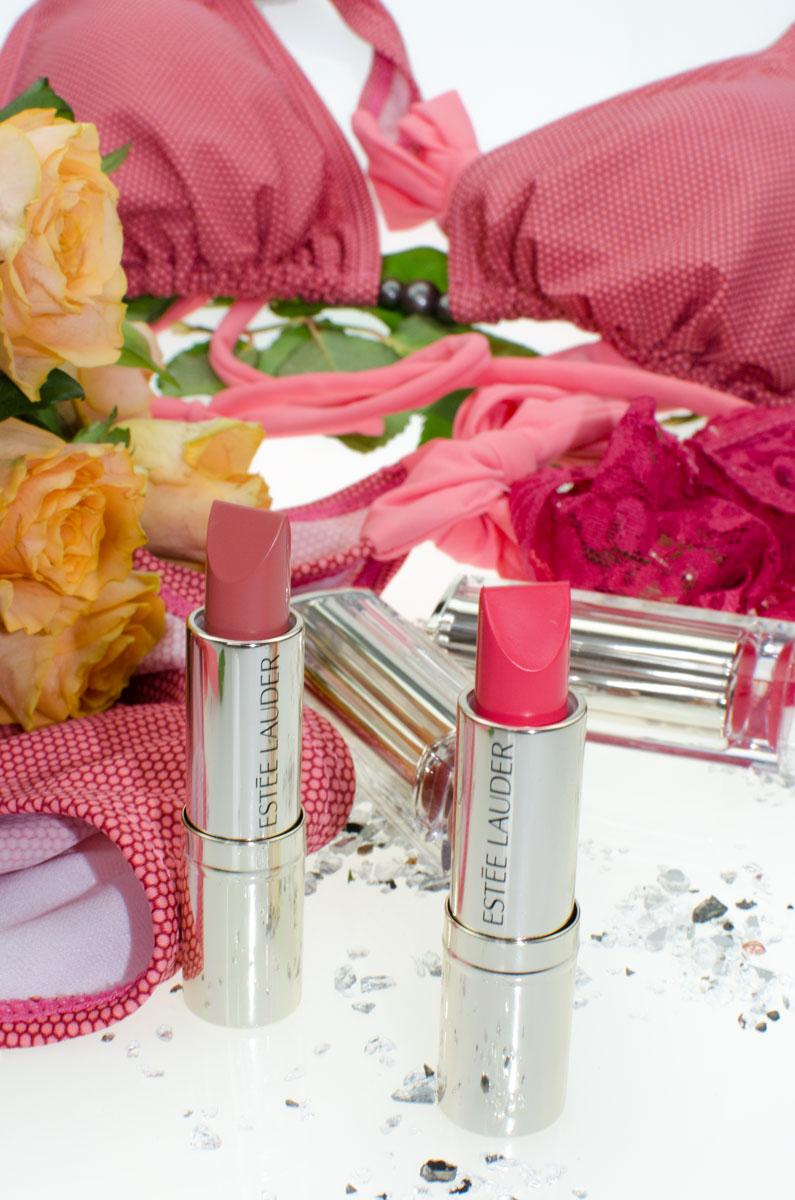 Estée Lauder Pure Color Love Lipsticks | Raw Sugar | Wild Poppy