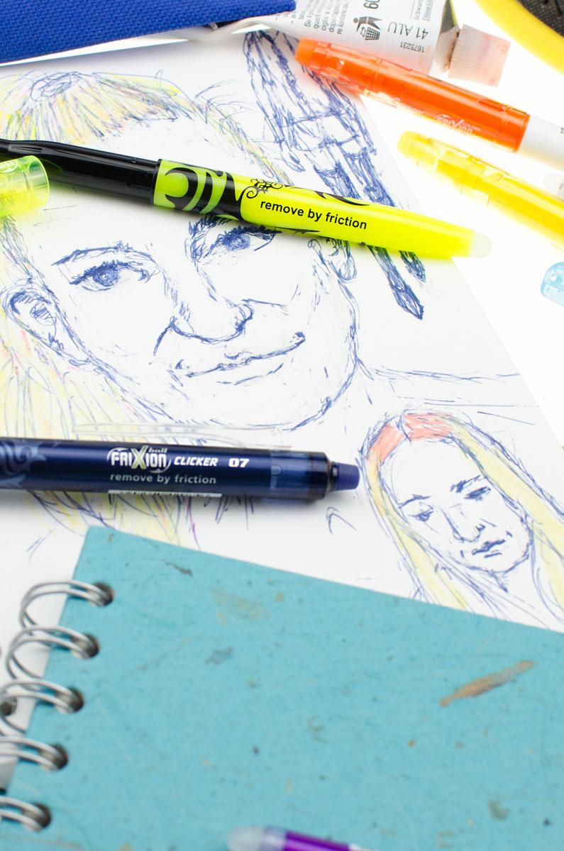 Ausprobieren oder wegradieren mit FriXion Stiften von PILOT PEN