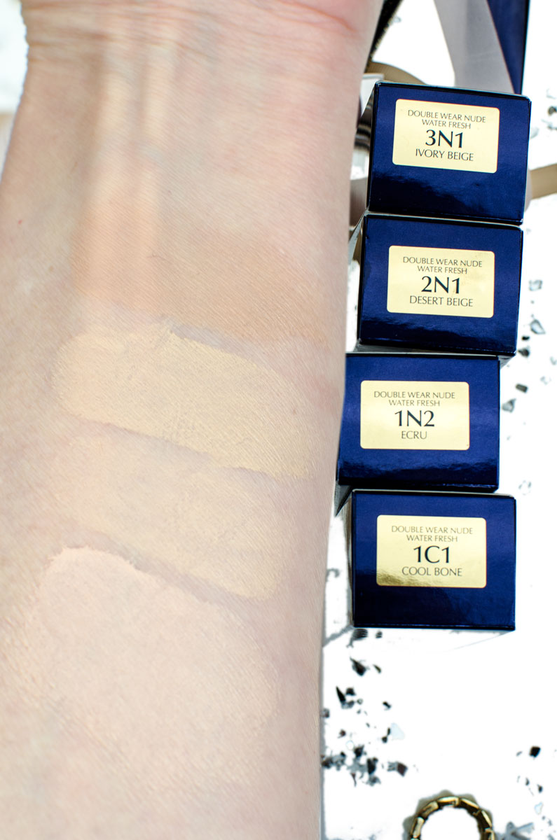[beinhaltet werbung]Double Wear Nude Water Fresh Makeup SPF 30 | Lighweight Foundation | Swatches