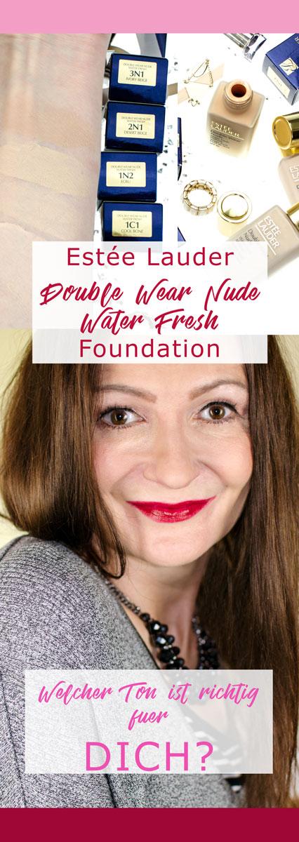 [beinhaltet werbung]Estée Lauder Double Wear Nude Water Fresh Makeup SPF 30 | Lighweight Foundation