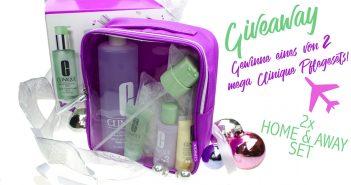 Giveaway | Gewinne eines von 2 tollen Clinique Home & Away 3 Steps 3 Phasen Systempflege Sets