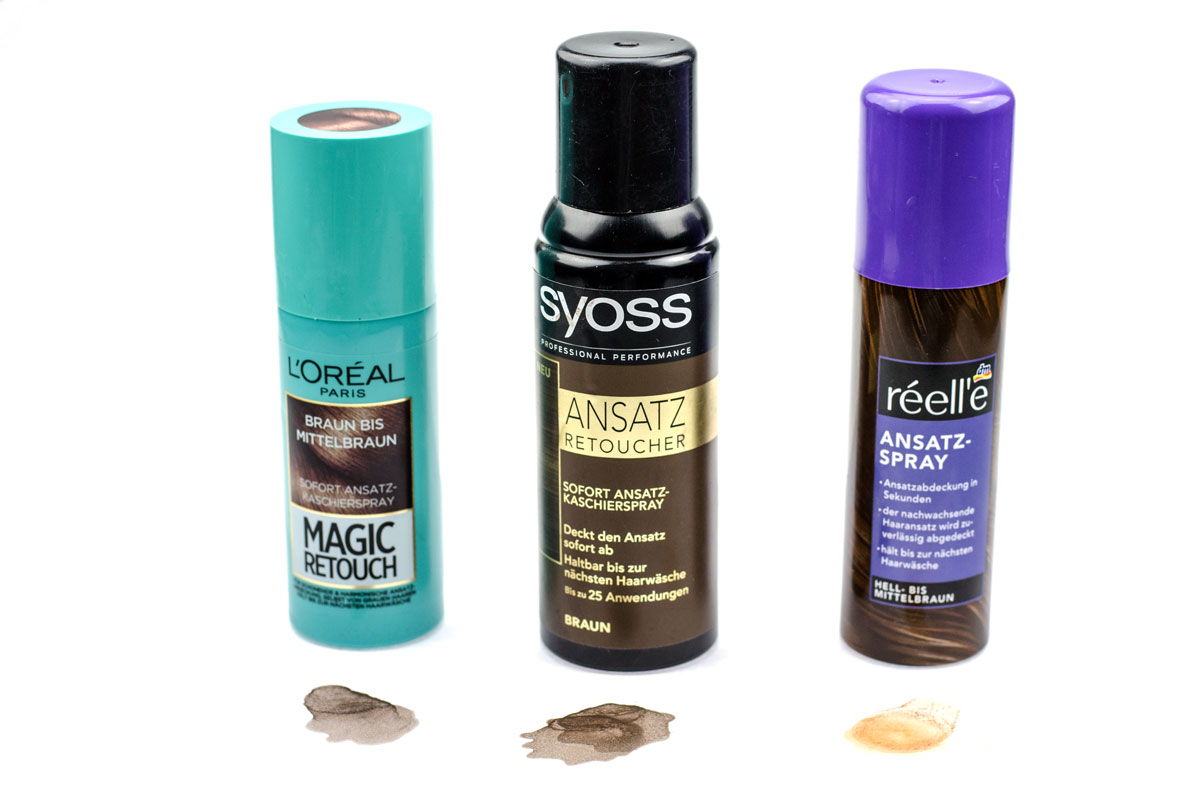 Ansatzspray | Réell'e, L'Oréal Magic Retouch & Syoss Ansatz Retoucher im Test! Welches ist wirklich gut? ] Swatches