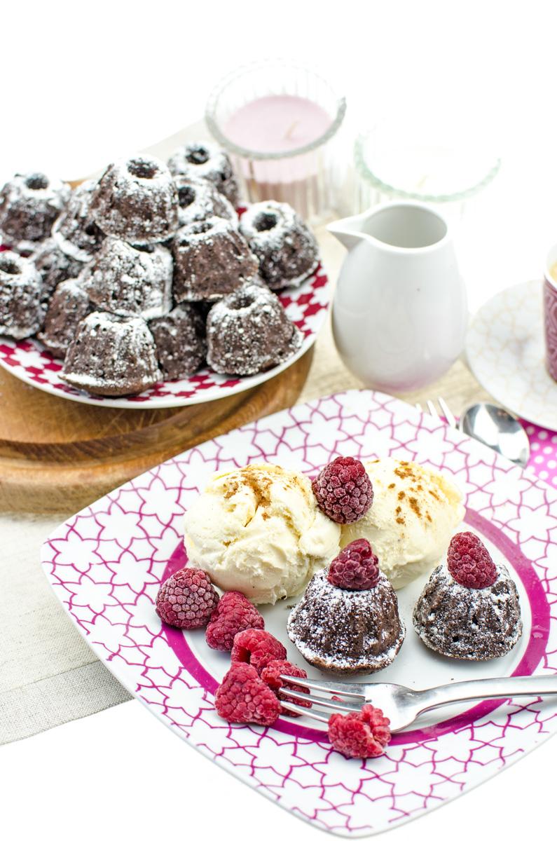Mini Gugelhupf Cinnamon Brownies | Yummy Gugelhupf Brownies mit Zimt für Schokoladen-Fans | Toll als Dessert mit Vanilleeis