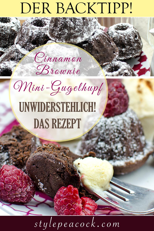 [anzeige]Mini Cinnamon Brownie Gugelhupf | Yummy Gugelhupf Brownies mit Zimt für Schokoladen-Fans