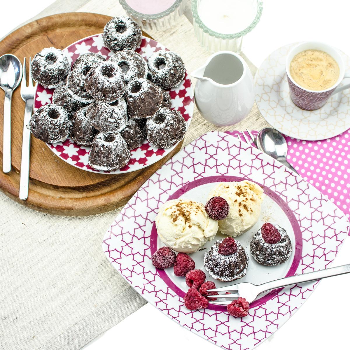 Mini Gugelhupf Cinnamon Brownies | Yummy Gugelhupf Brownies mit Zimt für Schokoladen-Fans