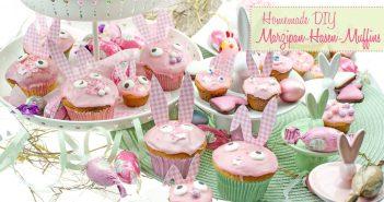 Oster-Hasen-Muffins mit Marzipan aus Rührteig: Locker & süß