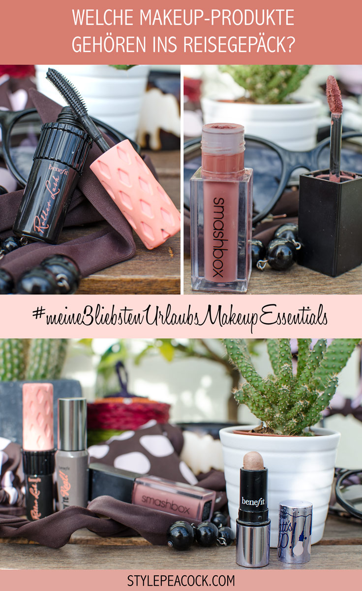 [werbung da markennennung & affiliate links]MEINE DREI LIEBSTEN URLAUBS-MAKEUP-ESSENTIALS | Blogger THEMENWOCHE | Watt's Up Highlighter von benefit, Smashbox Always On Liquid Lipstick & benefit Mascara
