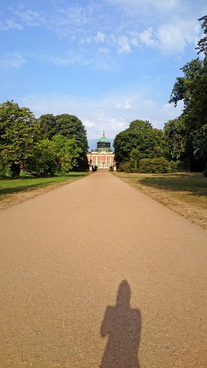 Joggen im Park Sanssouci am frühen Morgen | Das Neue Palais