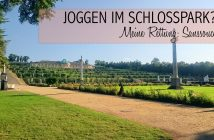 Joggen im Park Sanssouci am frühen Morgen | Schloss Sanssouci: Blick über die Terrassen