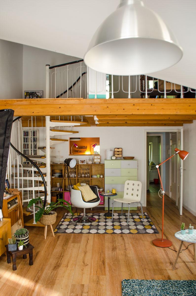 Das Wohnzimmer und die Galerie der Puppenmaisonette in Potsdam [beinhaltet werbung & affiliate links]