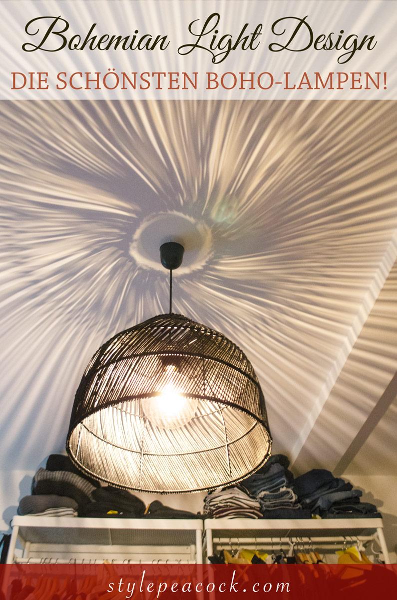 Boho-Style [beinhaltet werbung]Tolle Lichteffekte mit Boho Korblampen